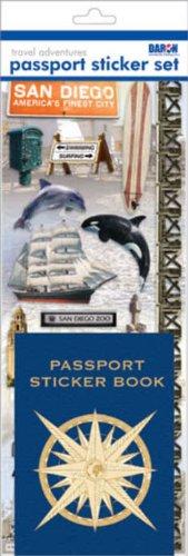 Passport or Scrapbooking Sticker Set-San Diego