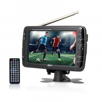 Axess 7″ LCD TV with ATSC/NTSC Digital Tuner Built-in Rechargeable Battery and USB/SD Card Reader