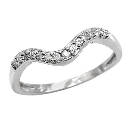 Sterling Silver 0.45 CTW Cubic Zirconia Ladies Ring. Ring Size 6. Total Item weight 1.6 g.