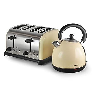 1 klarstein bed and breakfast ensemble grille pain 4 tranches tranches et bouilloire - Grille pain et bouilloire ...
