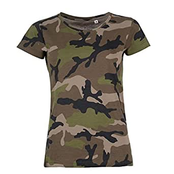 Sols Womens Ladies Camo Short Sleeve T Shirt