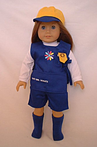 Doll Clothing Girl Scouts Daisy Uniforms. Fits American Girl or Any Similiar 18