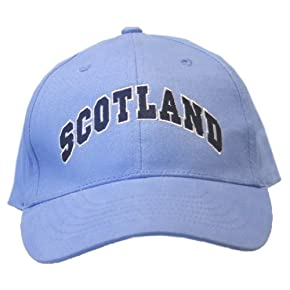 Mens Scotland Block Embroidered Baseball Cap