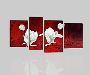 Quadri moderni astratti con fiori olio su tela dipinti a for Amazon quadri moderni astratti