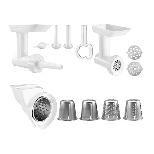 KitchenAid KGSSA Stand Mixer Attachment Pack 2 with Food Grinder, Rotor Slicer & Shredder, and Sausage Stuffer (Kitchenaid Grinder Accessory compare prices)
