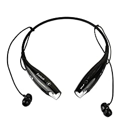 Black Wireless Bluetooth V4.0+EDR HV-800 Neckband Sport Stereo Universal Headset Headphone for Smartphone