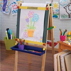 Personalized Artist Easel with Paper - Font: Class, Font Color: Black