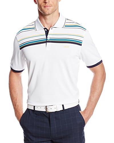 IZOD Men's Short Sleeve Tailgating Jersey Engineered Stripe Golf Polo