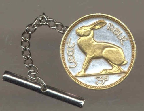 Gorgeous 2-Toned Gold on Silver World Coin Tie-Tack-177TT
