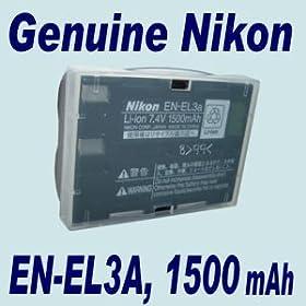 ORIGINAL EN-EL3A Li-Ion DIGITAL CAMERA BATTERY with protective COVER; 1500mAh High Capacity; fits D100SLR, D100, D70S, D70, D50