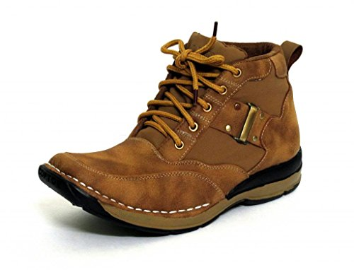Fbt Men's 7302 Camel Ankle Outdoor Shoes - 10