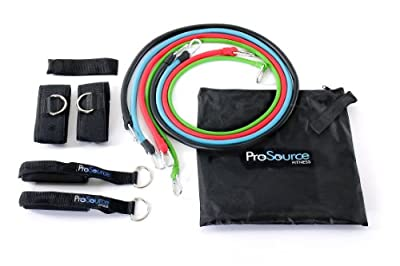 Prosource Set Of 4 Premium Stackable Latex Exercise Resistance Bands by ProSource