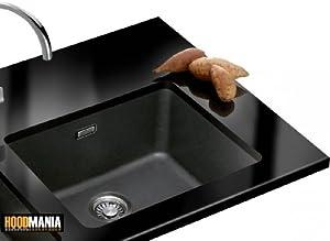 Franke Black Undermount Sink : Franke Kubus KBG113ONX Black Resin Undermount Sink & Waste.: Amazon.co ...