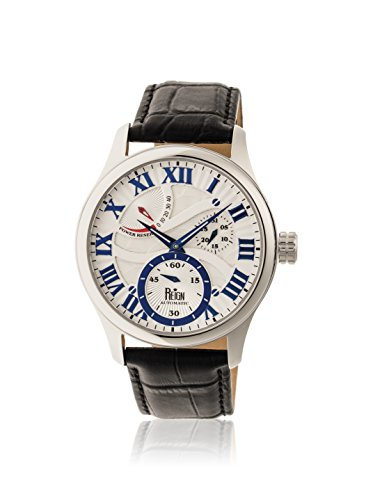 Reign Automatic Men's Bhutan Black/Silver Leather Watch