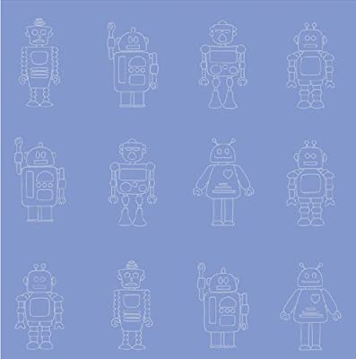 Hoopla Space Robot Print Childrens Kids Bedroom 10m Wallpaper Roll Decor Art from FINE DECOR