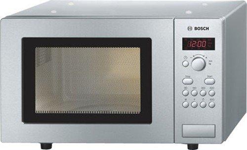 Bosch BOSHMT75M451B 17 litre 800 watt Freestanding Solo Microwave Oven, Brushed Steel