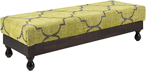 Surya ZFL-5002 Ottoman, 60 by 21 by 12-Inch, Olive/Black - 1