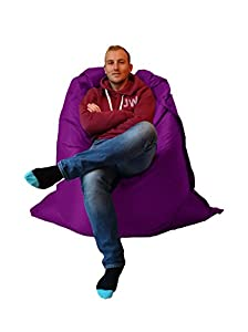 Extra Large Giant Beanbag Purple - Indoor & Outdoor Bean Bag - MASSIVE 180x140cm - great for Garden from Outside-In
