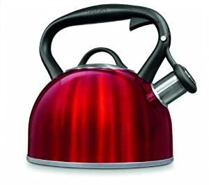 Cuisinart CTK-STRMR Valor Tea Kettle, Metallic Red