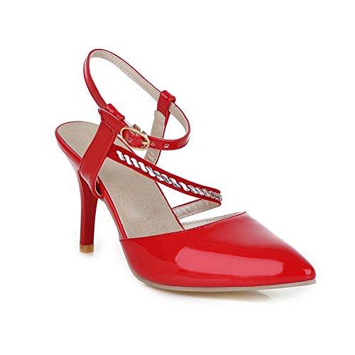 adee-girls-solid-buckle-red-polyurethane-sandals-5-uk