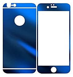 Dreams Mall(TM)Top Fashion Electroplating Mirror Effect Tempered Glass Screen Protector Film Decal Skin Sticker for Apple iPhone 6 4.7 inch-Sapphire