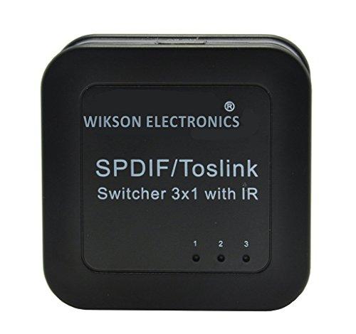 wikson electronics - Audio optique numérique 3x1 Switcher Commutateur SPDIF   TOSLINK avec télécommande
