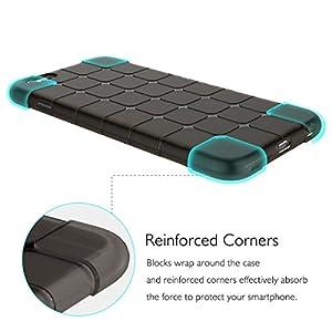 iPhone SE Black Gel Case by C63® Slim Shock Resistant Protective iPhone 5 5S SE Phone Case Cover [Black]