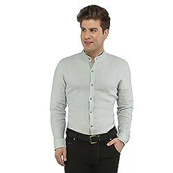 Attila Men's Casual Shirt (2206495611_Light Green_44)