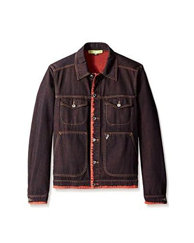 Versace Jeans Men's Garment-Dyed Trucker Jacket