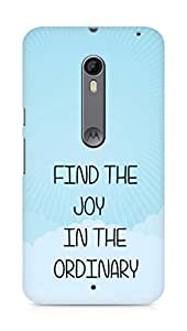 AMEZ find the joy in the ordinary Back Cover For Motorola Moto X Style