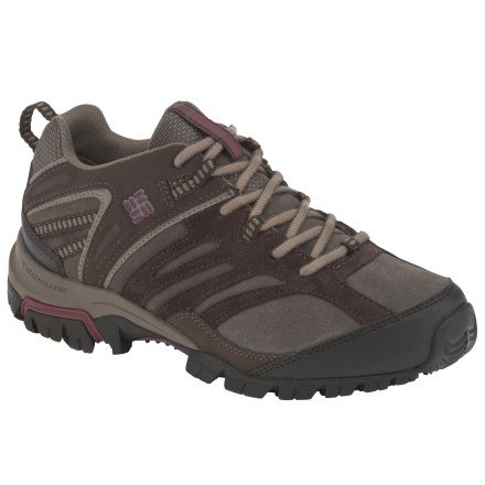 Columbia Women's Shasta Ridge  Omni-Tech  Lea Trail Shoe,Bungee Cord/ Plum Wine,10 M US