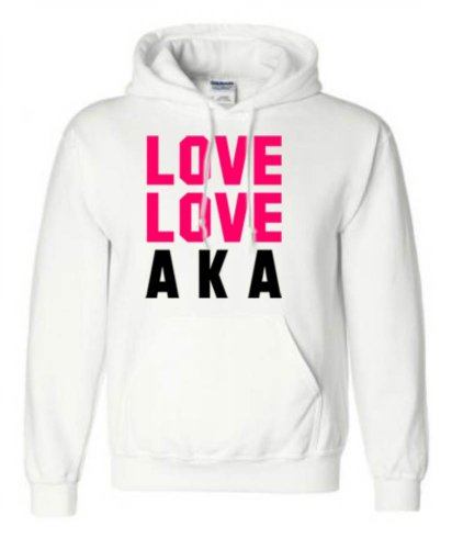 Alpha Kappa Alpha Love Love Hooded Sweatshirt