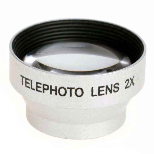 Sliver Tone Portable Mini Magnetic 2X Telephoto Lens For Apple Iphone 4S 4Gs