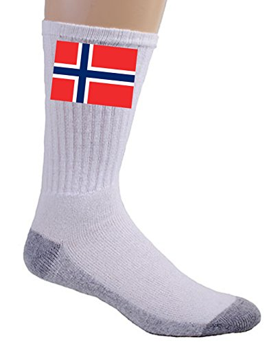 Norway - World Country National Flags - Crew Socks