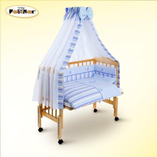 Fabimax - Lettino per neonati BabyMax classico con accessori Emily, 3 colori assortiti