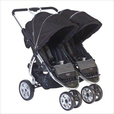 Valco-Baby-Latitude-Twin-Stroller-EX-Silk-Black