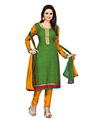Shree Vardhman Green CREPE Unstitched Dress Material