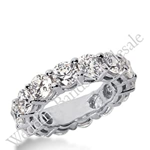 14k Gold Diamond Eternity Wedding Bands, Shared Prong Setting 7.00 ct. DEB1774514K - Size 9.5