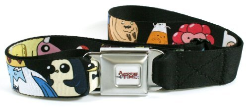 Adventure Time Seatbelt Belt - Candy Kingdom People with Zombie