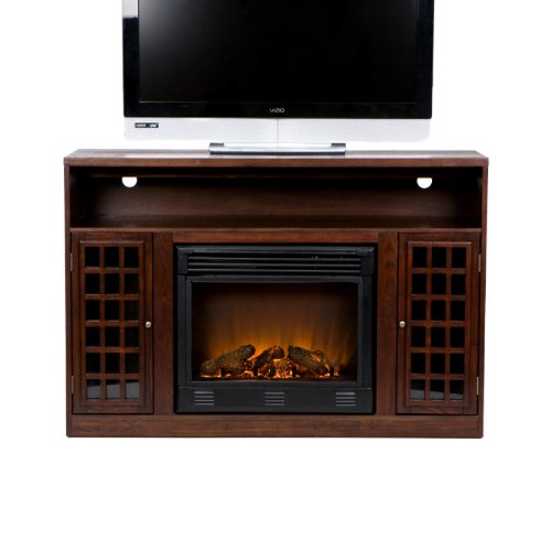 "Bismark 48"" TV Stand with Electric Fireplace Finish: Espresso"