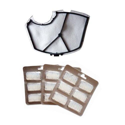 Cimc Llc 3*Air Freshener + Motor Protection Filter Replacement For Vorwerk Kobold Vacuum Cleaner Vk140 Vk150 Accessory Kit front-543746