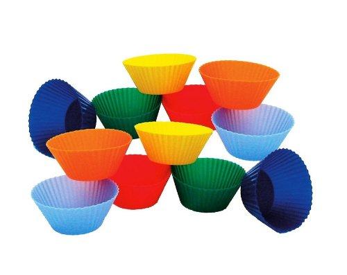 Gerl Kitchen Supply Round Silicone Baking Cups Round, 3-Inch, Set Of 6