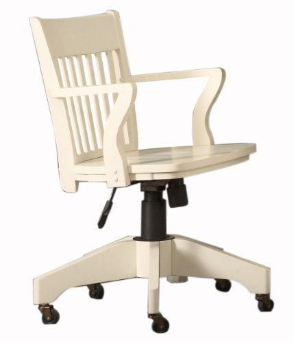 Homelegance 8891S Hydraulic Swivel Office Chair With Casters, White front-1076399