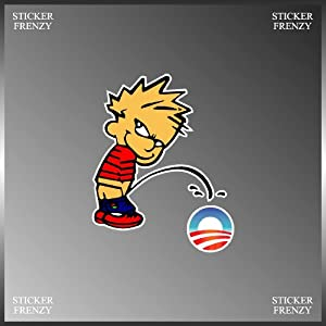 piss on obama window decal