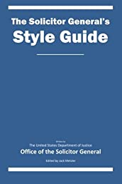 The Solicitor General's Style Guide