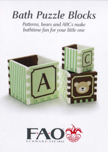 Bath Puzzle Blocks by FAO Schwartz - Green