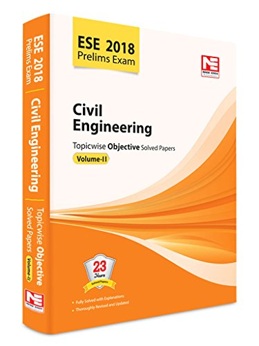 ESE-2018 CIVIL ENGINERING TOPICWISE OBJECTIVE SOLVED PAPERS VOL-II price comparison at Flipkart, Amazon, Crossword, Uread, Bookadda, Landmark, Homeshop18