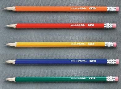School Smart Number 2 Pencils With Latex Free Erasers - Pack Of 144 - Assorted Colors front-972546