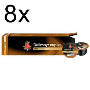 Dallmayr capsa Crema Intensa, Pack of 8, 8 x 10 Capsules