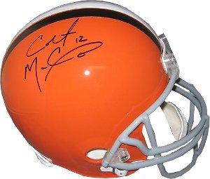 Colt McCoy signed Cleveland Browns Full Size Replica Helmet- McCoy Hologram by Athlon Sports Collectibles